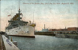 Opening of the Boston Navy Yard New Dry Dock, August 12, 1905
