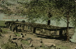 The Last Packet Boat, James River Near Lynchburg, Va Postcard