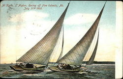 Al Kyrts, L. Aiglon, Racing off Five Islands, Me. July 21st 1905