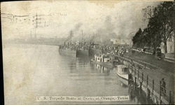 U.S. Torpedo Boats at Docks