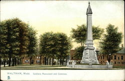 Soldiers Monument and Commen