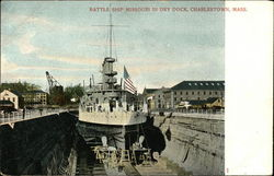 Battle Ship Missouri in Dry Dock