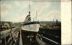 "Cruiser ""Maryland"" in Dry Dock"
