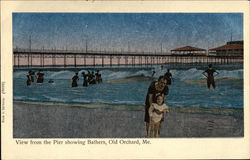 View from the Pier Showing Bathers