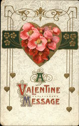A Valentine Message-heart and flowers