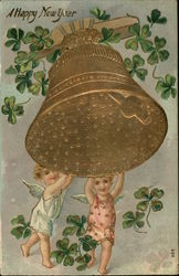 A Happy New Year with Cherubs, Bell and Clover