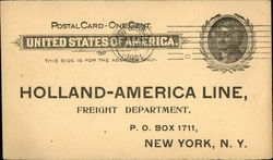 Holland-America Line Freight Notice