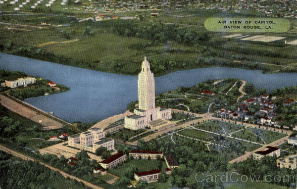 Air View of Capitol Baton Rouge Louisiana