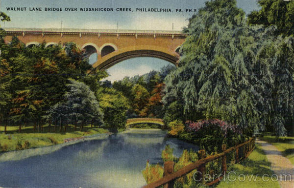 Walnut Lane Bridge over Wissahickon Creek Philadelphia Pennsylvania