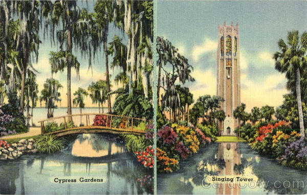Cypress Garden, Singing Tower Cypress Gardens Florida
