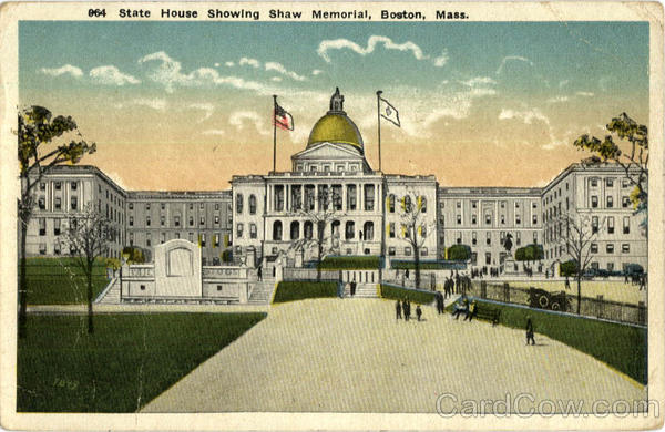 State House Showing Shaw Memorial Boston Massachusetts
