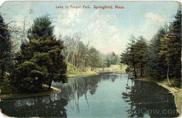 Lake in Forest Park Springfield Massachusetts