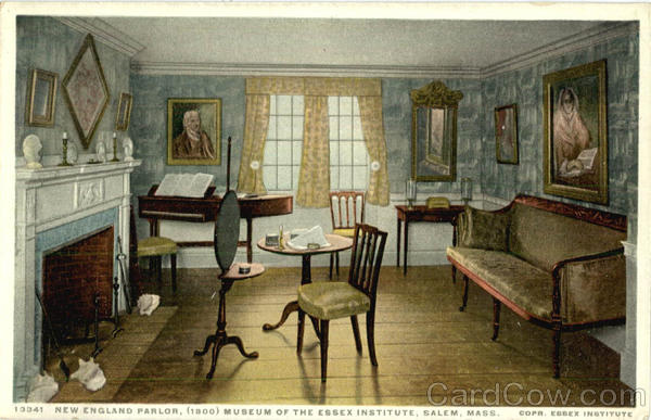 New England Parlor, (1800) Museum of the Essex Institute Salem Massachusetts