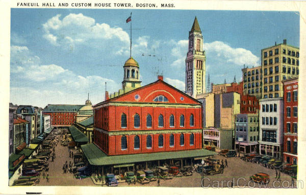 Faneuil Hall and Custom House Tower Boston Massachusetts