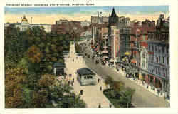 Tremont Street, Showing State House