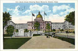 State House Showing Shaw Memorial