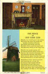 A Cape Cod Fireplace, Old Wind Mill on Cape Cod Mass