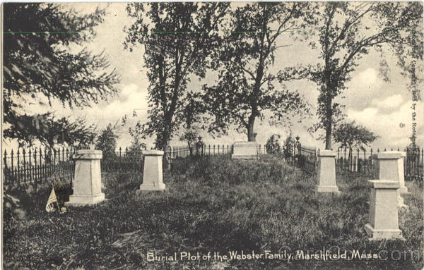 Burial Plot Of The Webster Family Marshfield Massachusetts