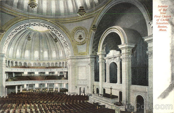 Interior Of The New First Church Of Christ Scientists Boston Massachusetts