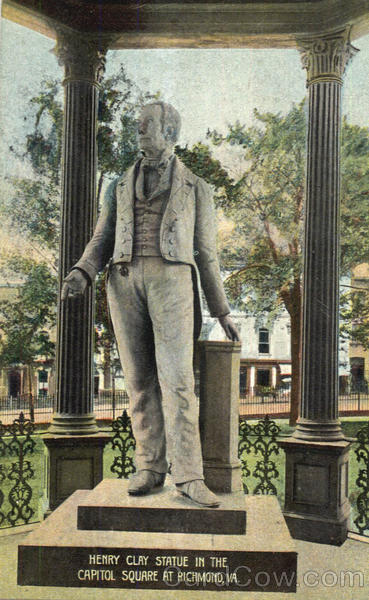 Henry Clay Statue In The Capitol Square Richmond Virginia