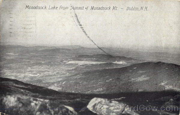 Monadnock Lake From Summit Of Monadnock Mt Dublin New Hampshire