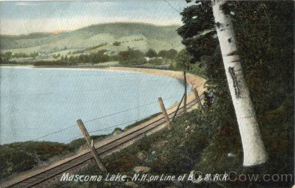 Mascoma Lake On Line Of B. & M. R. R New Hampshire