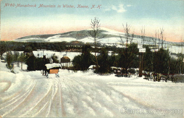 Monadnock Mountain In Winter Keene New Hampshire