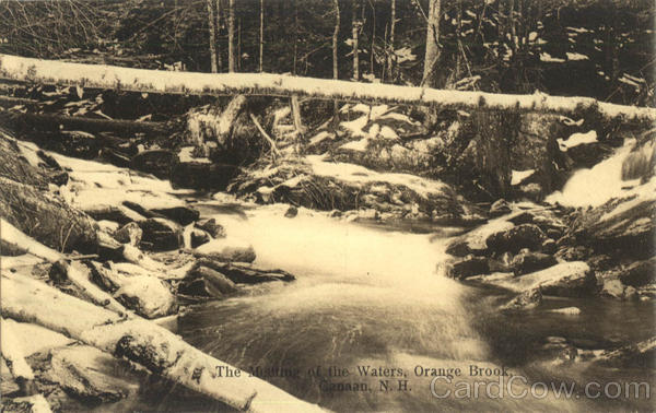 The Meeting Of The Waters, Orange Brook Canaan New Hampshire