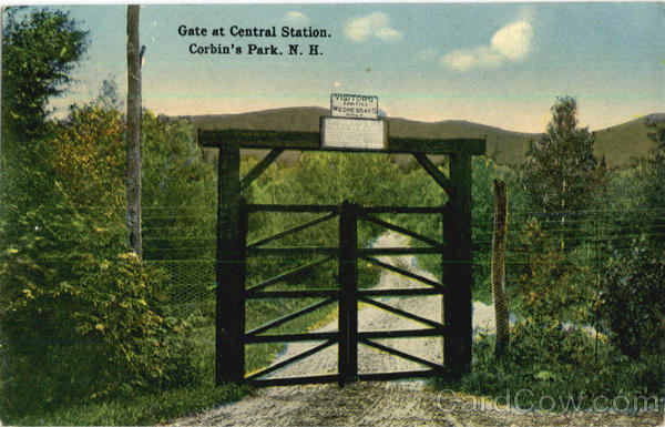 Gate At Central Station Corbin's Park New Hampshire