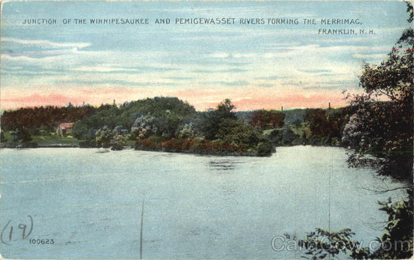 Junction Of The Winnipesaukee And Pemigewasset Rivers Forming The Merrimac Franklin New Hampshire