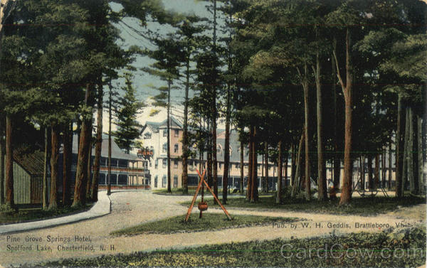Pine Grove Springs Hotel, Spofford Lake Chesterfield New Hampshire