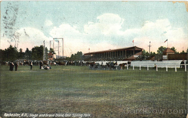 Stage And Grand Stand, Cold Spring Park Rochester New Hampshire