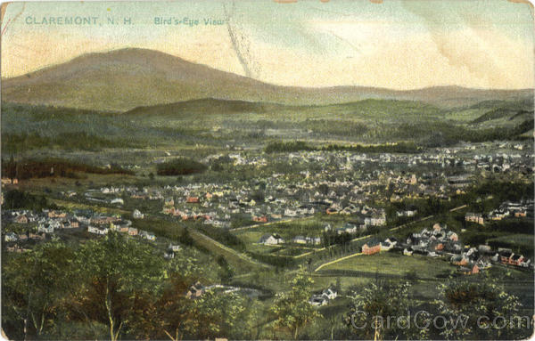 Bird's Eye View Claremont New Hampshire