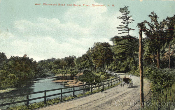 West Claremont Road And Sugar River New Hampshire