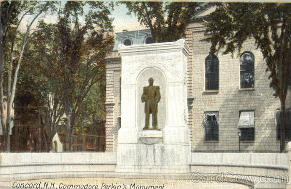 Commodore Perkin's Monument Concord New Hampshire