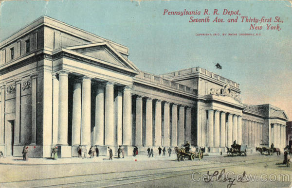 Pennsylvania R. R. Depot, Seventh Ave. and Thirty first St New York City