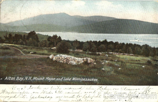 Mount Major And Lake Winnipesaukee Alton Bay New Hampshire
