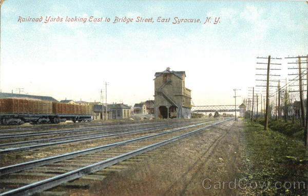 Railroad Yards Looking East To Bridge Street East Syracuse New York