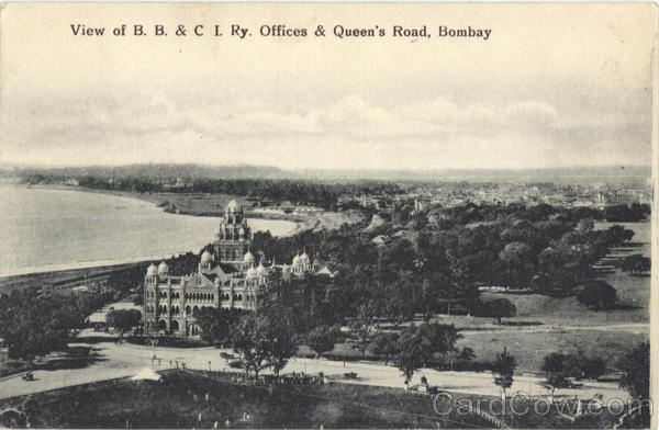 View Of B. B. & C. I. Ry. Office & Queen's Road Bombay India