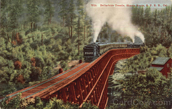 Dollarhide Trestle, Shasta Route Railroad (Scenic)