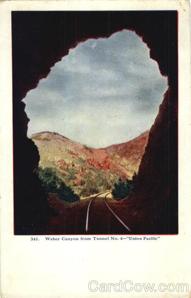 Weber Canyon From Tunnel No. 4 Railroad (Scenic)