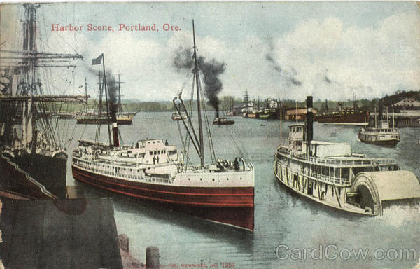 Harbor Scene Portland Oregon