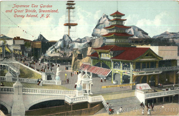 Japanese Tea Garden And Great Divide, Dreamland Coney Island New York