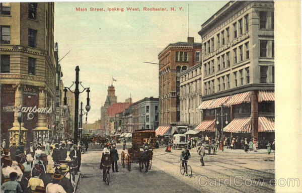 Main Street Looking West Rochester New York