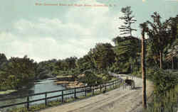 West Claremont Road And Sugar River Postcard