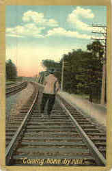 Coming Home By Rail Postcard