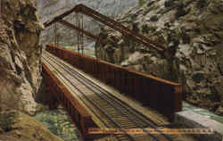 Hanging Bridge In The Royal Gorge