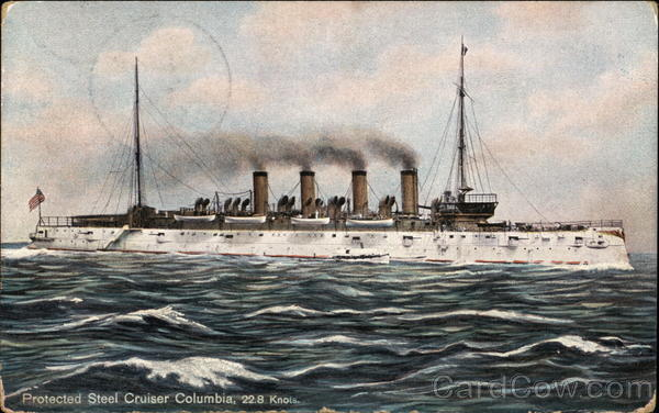Protected Steel Cruiser Columbia, 22.8 Knots Ships
