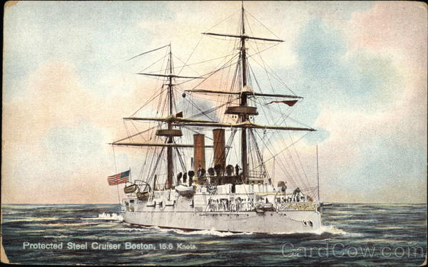 Protected Steel Cruiser Boston Ships