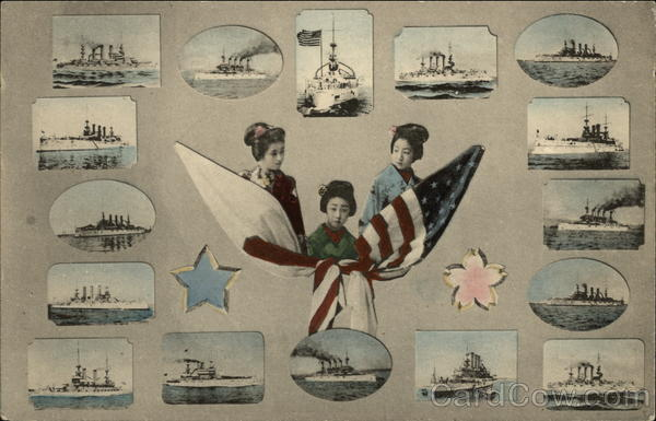 Japanese and US Warships - WWI Boats, Ships World War I